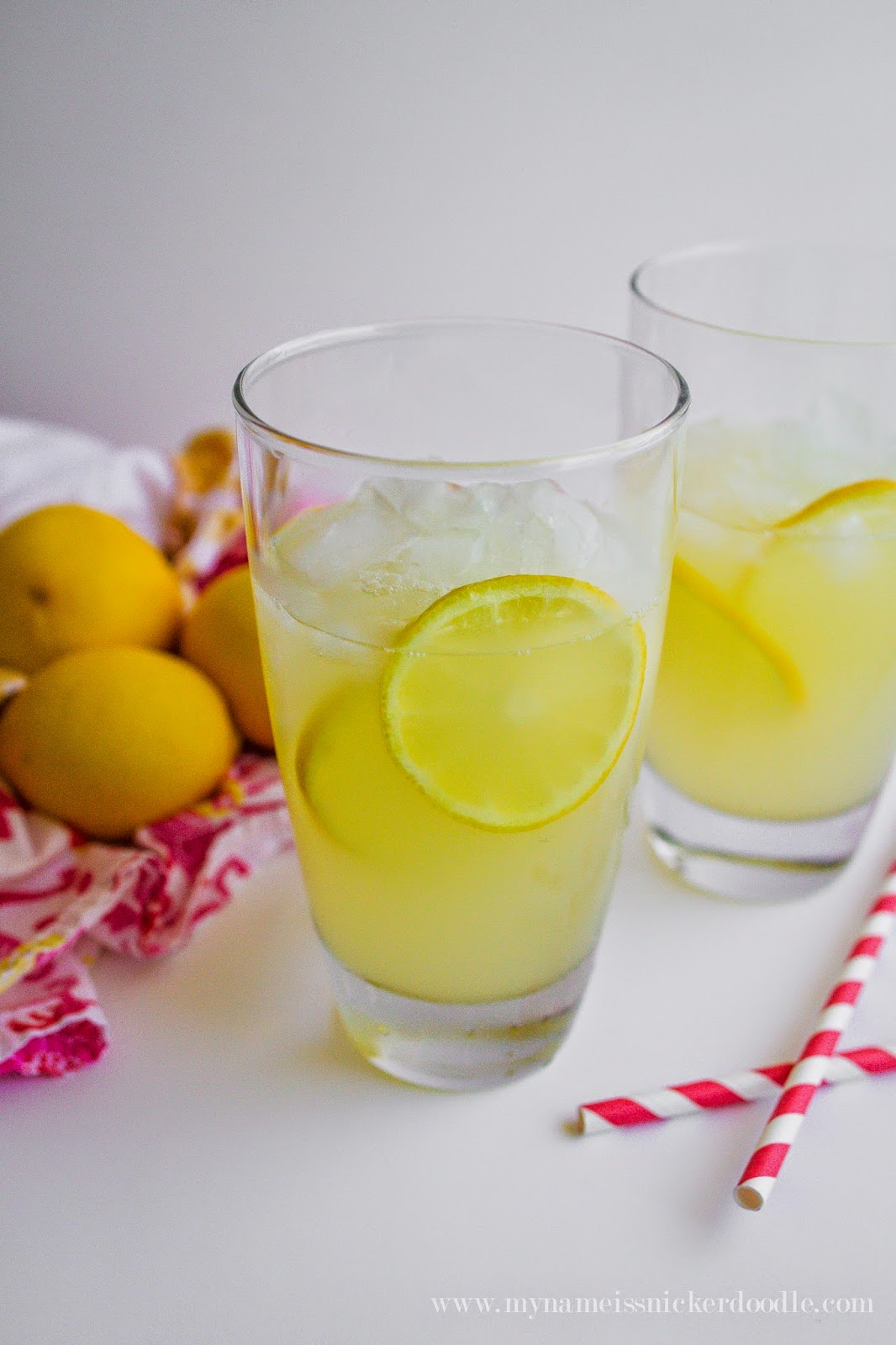 A freshly squeezed lemonade recipe that's only three ingredients and sure to win you over!  |  My Name Is Snickerdoodle
