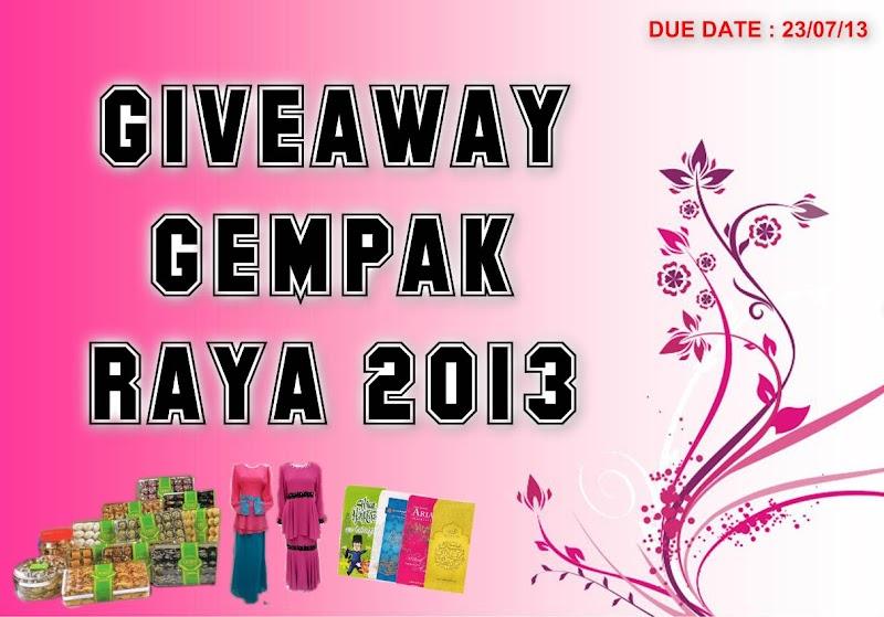 Giveaway Gempak Raya 2013