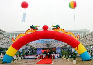 Tổ chức sự kiện Trần Gia - Cho thuê cổng hơi, rối hơi, khí cầu, bong bay..