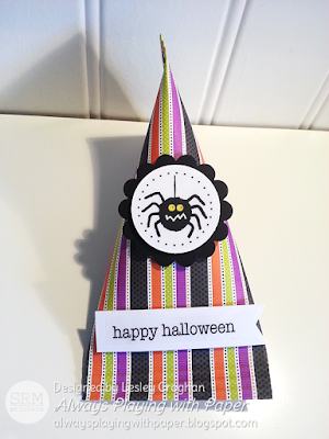 SRM Stickers Blog - Halloween Treats by Lesley - #halloween #stickers #clearcontainers #purse #tag #twine #fall #DIY