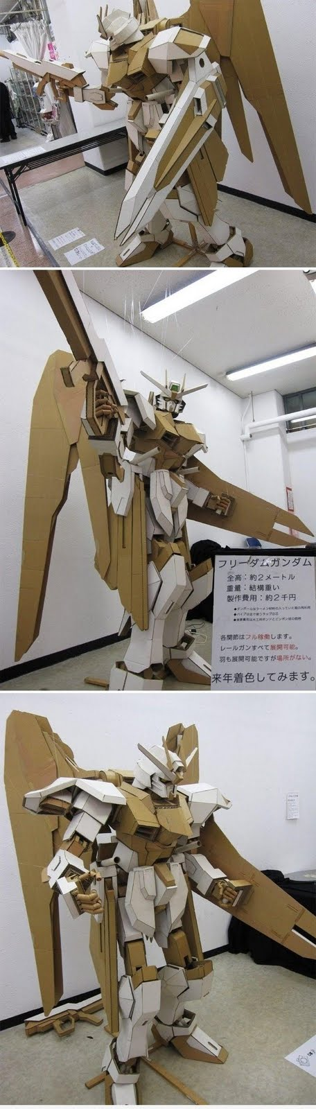 Gundam Cardboard Art funny pic