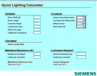 electrical lighting design calculations pdf