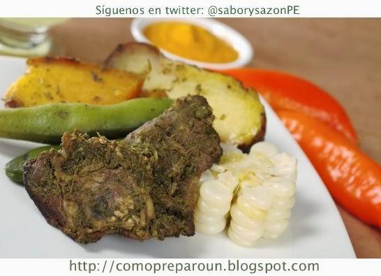 COMO PREPARO UNA PACHAMANCA - COMIDA DE LA SIERRA DEL PERÚ - comopreparoun.blogspot.com