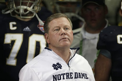 Notre Dame head coach Brian Kelly interviews for Philadelphia's head coaching vacancy.