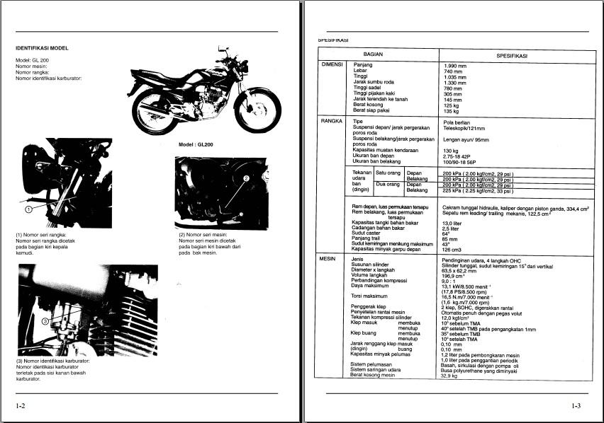 sambermata buku manual sepeda motor rh sambermata115 blogspot com honda gl 100 service manual Honda GL 1600