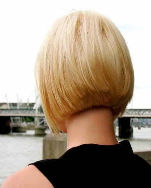 Hairstyles And Women Attire Short Bob Hairstyles Back View Short