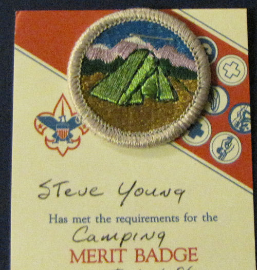 Boy Scout camping badge