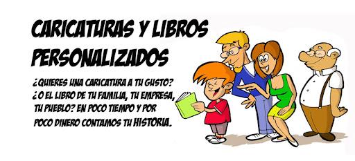 Caricaturas y libros personalizados