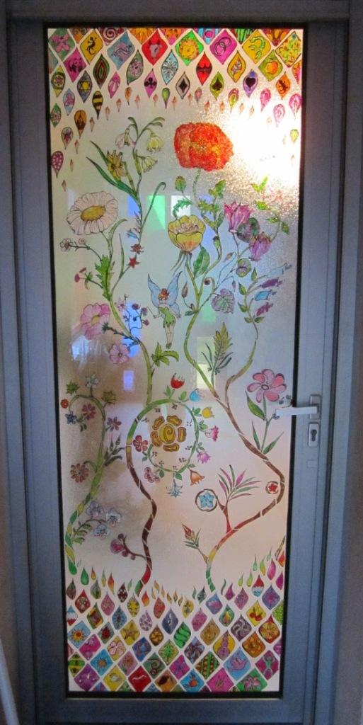 Artiste en herbes des vitraux maison for Peinture carreaux