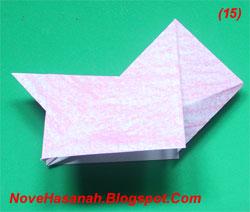 cara melipat per langkah origami anak anjing
