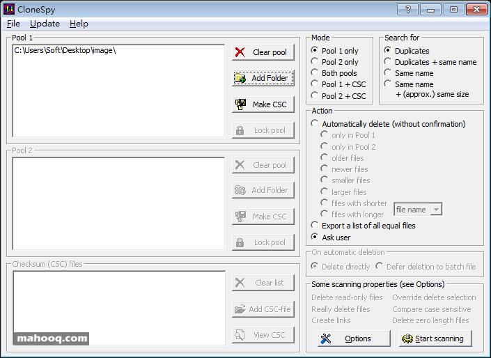 硬碟、資料夾重複檔案搜尋比對刪除工具軟體推薦:CloneSpy Portable 免安裝版下載