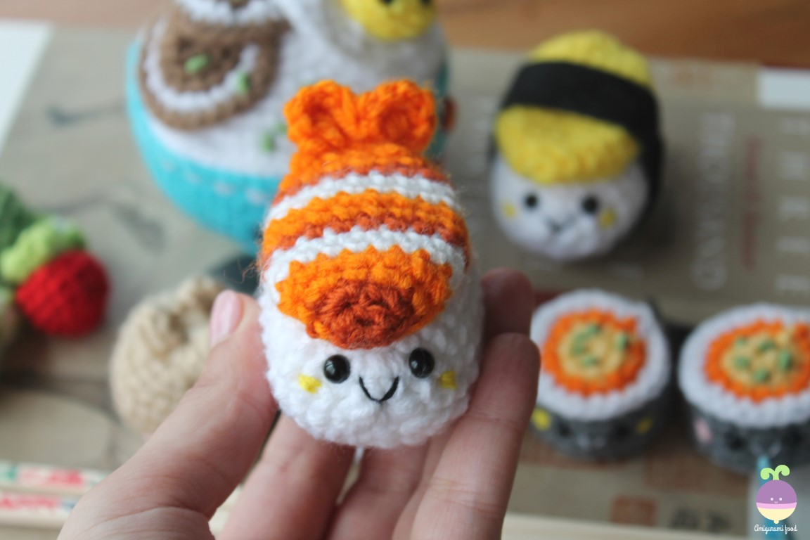 Amigurumi Patterns Disney : Amigurumi food new crochet pattern bento family sushi set