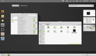 Smart Overview GNOME Shell extension Linux Mint