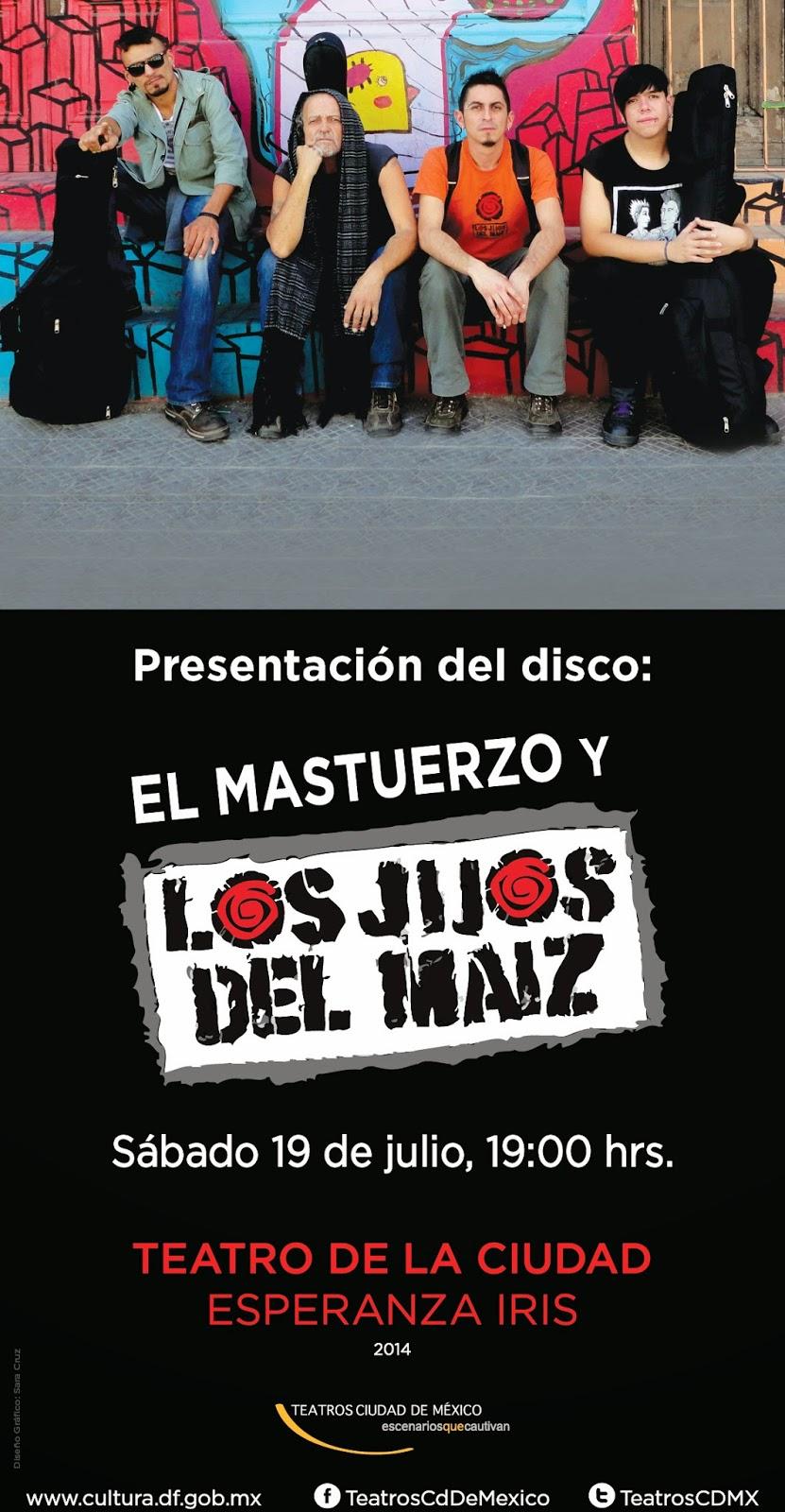 El Mastuerzo y Los Jijoz del Máiz presentan nuevo disco en el Teatro de la Ciudad