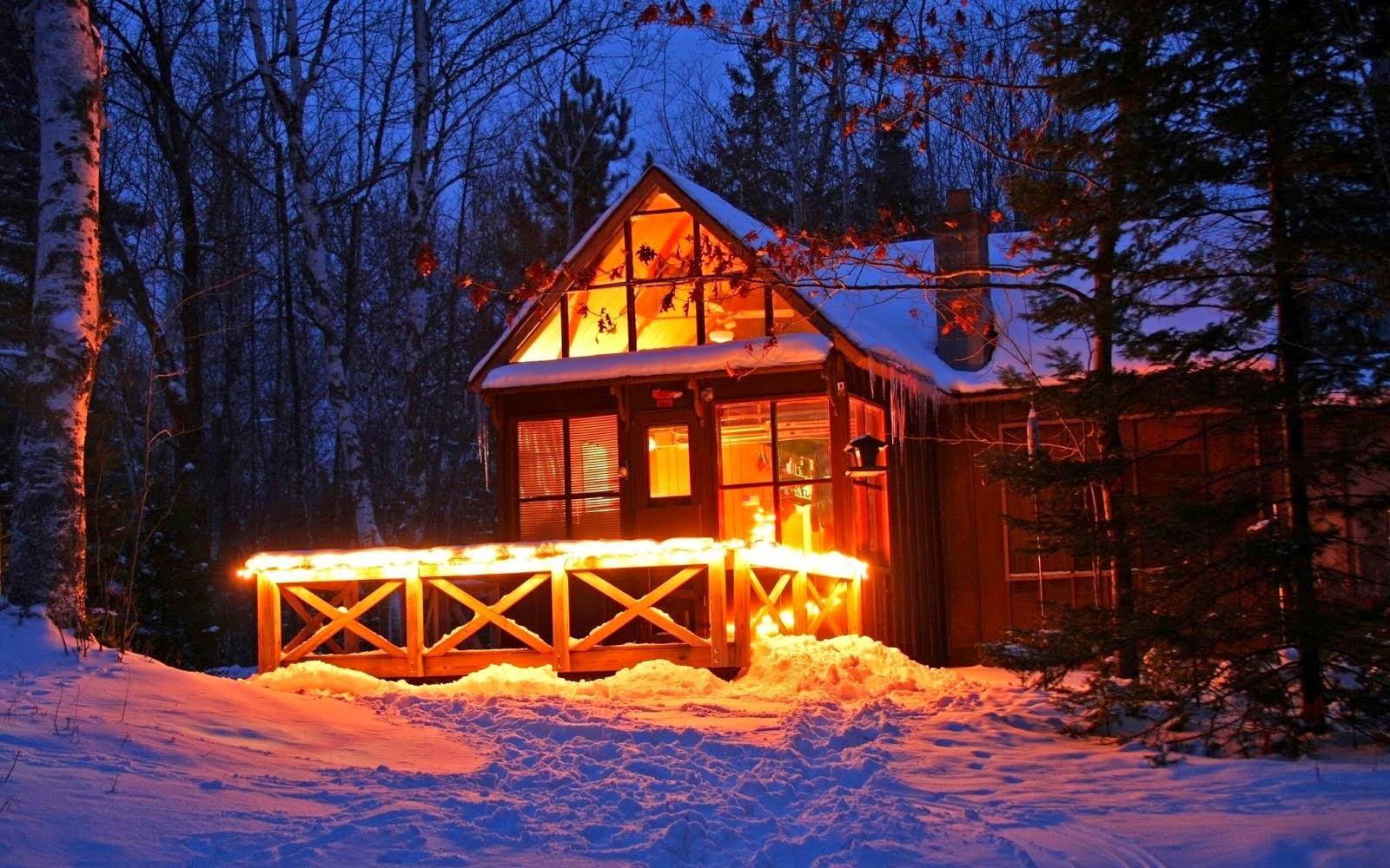 Cabana wallpaper cabana del bosque en noche de invierno fondos de pantalla de invierno best - Cabana invierno ...