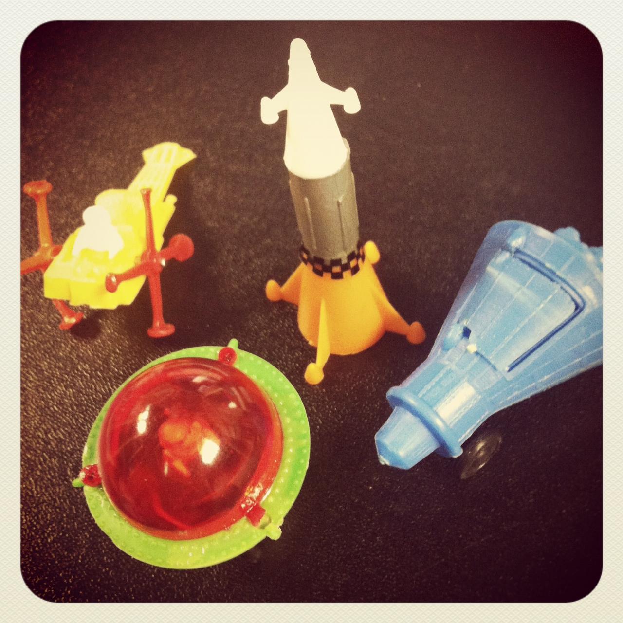 Lair Of The Dork Horde Vintage Space Cake Topper Toys