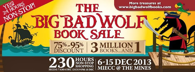 10 Sebab Big Bad Wolf Book Sale Wajib Dihadiri