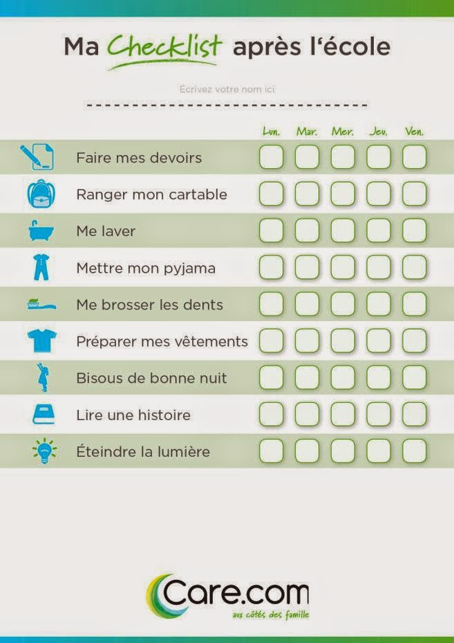 check list, rentrée, care.com, happy journal, organisation, maman, wondermum