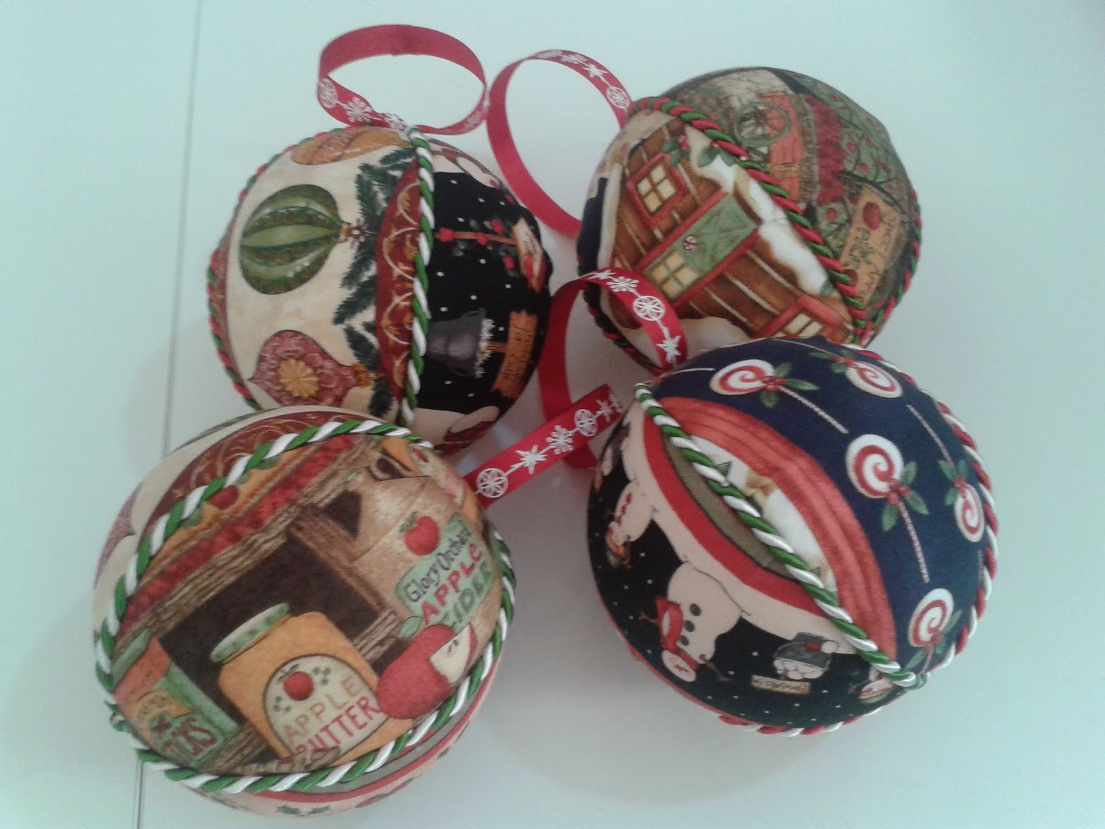 Super Palline di natale in stoffa | Fracakes baked with love TN35