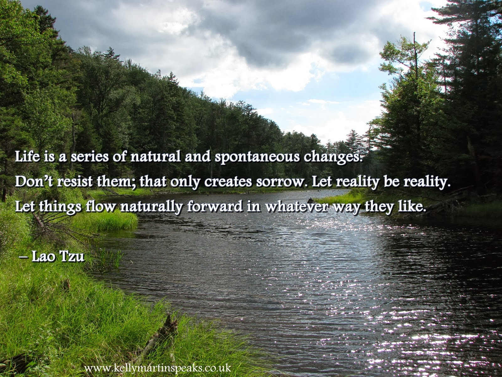 The Flow Of Life Inspirational Quote Lao Tzu