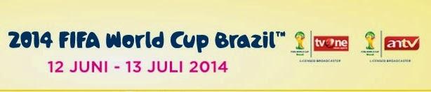Inilah Jadwal Tayang Siaran Langsung Piala Dunia 2014 Stasiun TVONE dan ANTV