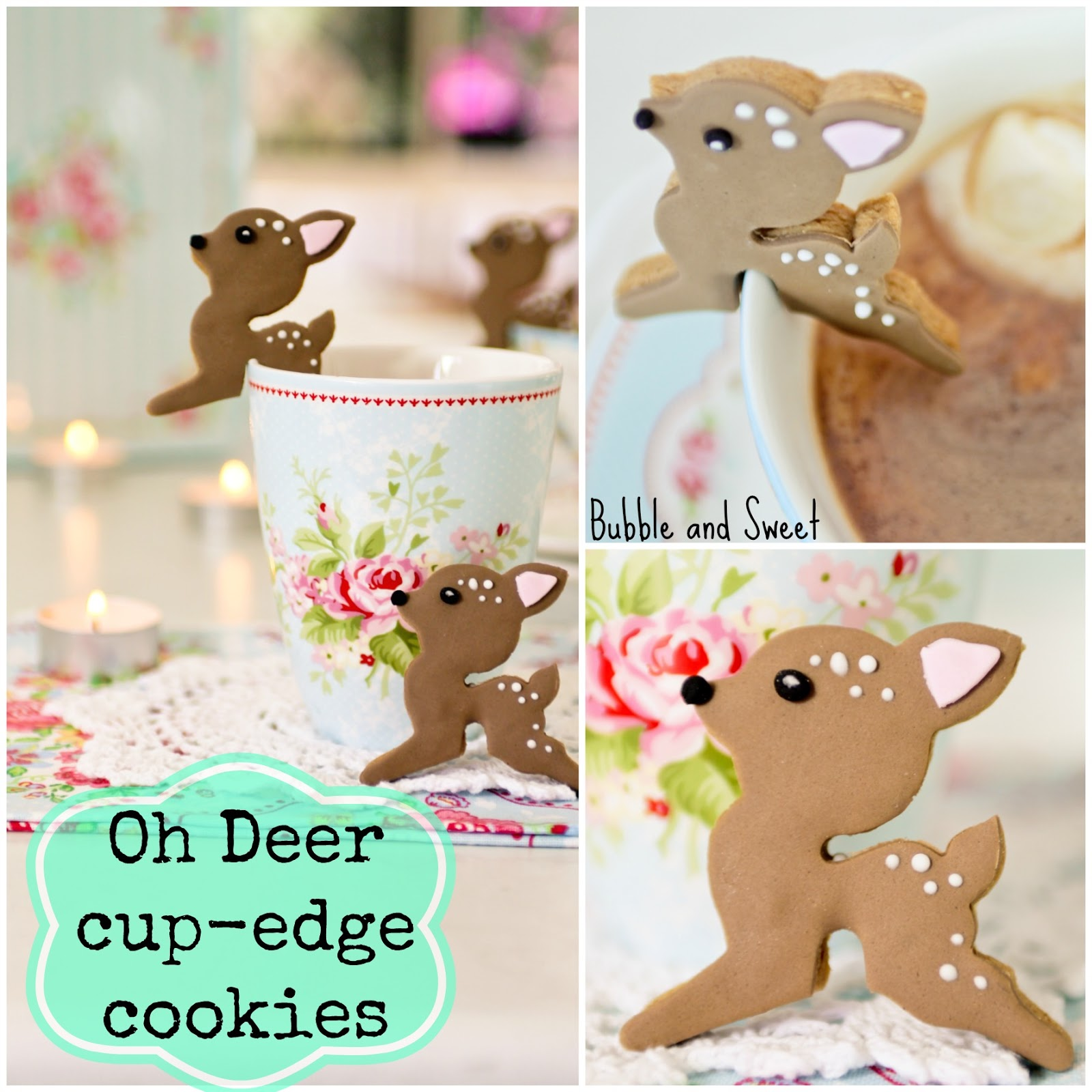 Bubble And Sweet Oh Deer These Cup Edge Cookies Are Too Cute