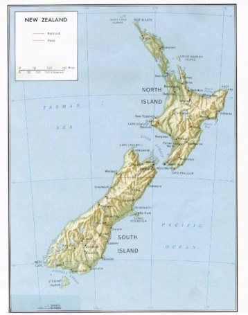 Political Map of New Zealand