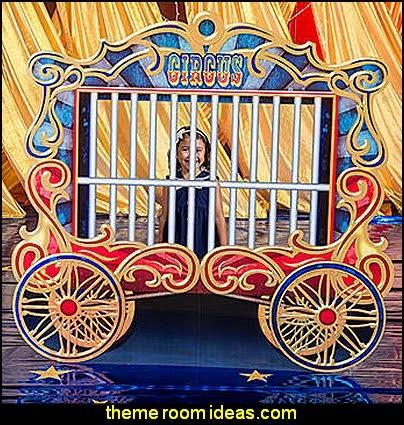 Vintage Circus Train Car Standee