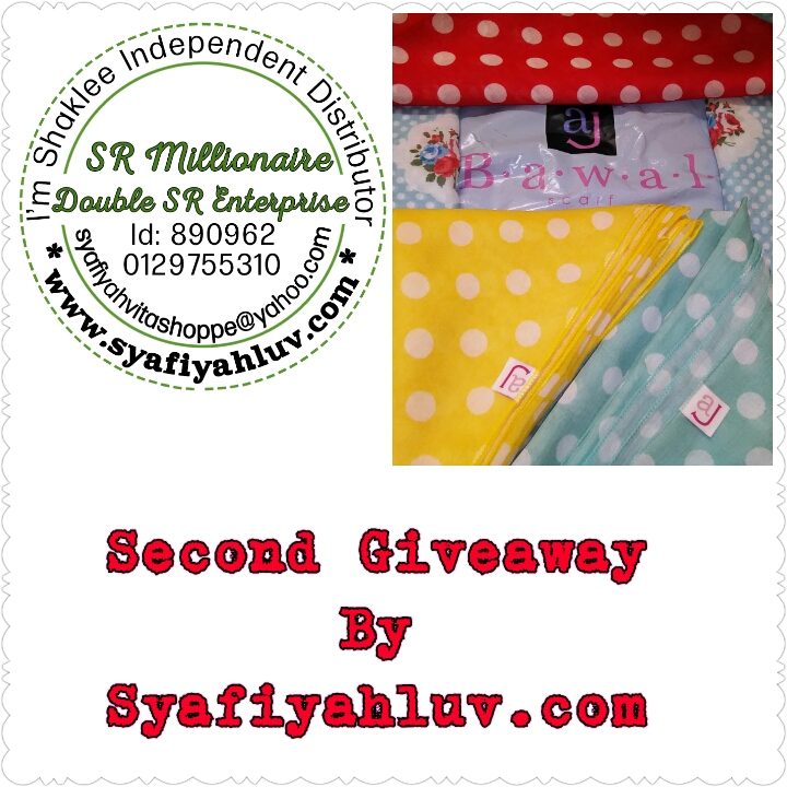 Giveaway 2015 By Syafiqahluv.com