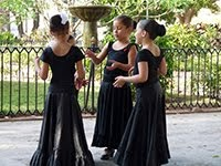 GIRLS IN FLAMENCO DRESSES