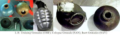 Eau de Kaboom – A bottle of cologne in the shape of a grenade was discovered in a passenger's carry-on bag at San Diego (SAN). On the X-ray, it looked like a regular hand grenade, so it took time to clear.  In addition, two training grenades were discovered after an alarm in checked baggage at Norfolk (ORF). The passenger at ORF also had 4 magazines loaded with 120 .223 rounds. And if that's not enough, two other inert grenades were discovered in a carry-on bag at Savannah (SAV). Read here and here  for more information on why inert items cause problems at checkpoints. We don't know they're inert until we check them out and checking them out can often inconvenience your fellow passengers.