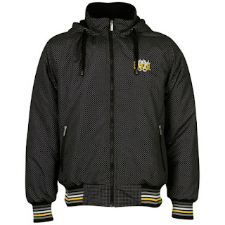 Everlast Men's Hood All Over Print Jacket - Black/Charcoal/Yellow