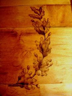 acorn, acorns, wreath, oak leaves, count your blessings, cabinet