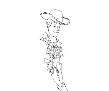 #9 Sheriff Woody Coloring Page