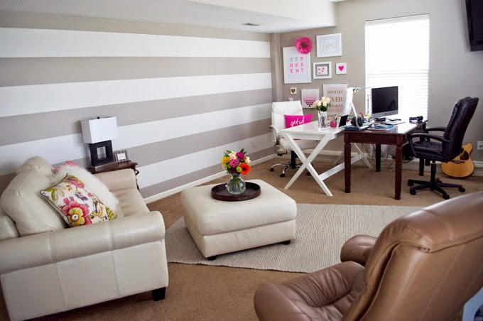 stripe-walls-office-inspiration-pink-pillows