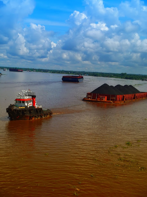 view of barito river banjarmasin