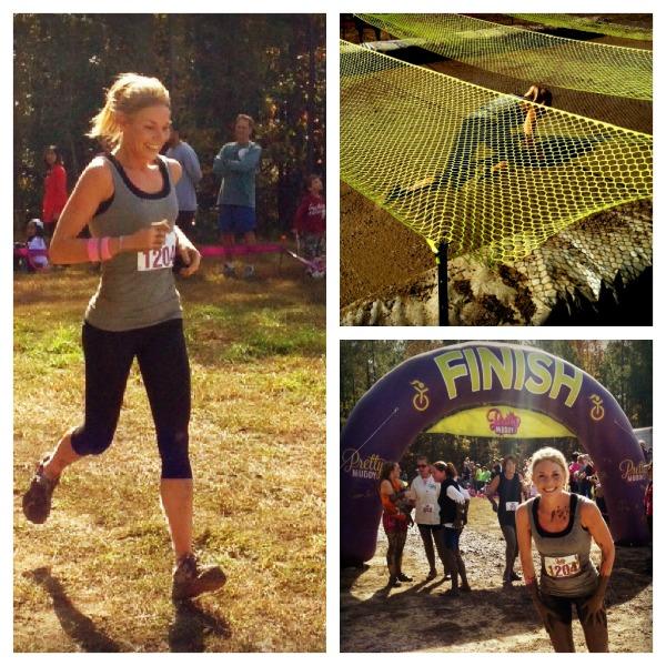 mud run, army crawl, finish line