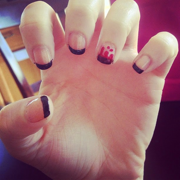 nail art horror halloween