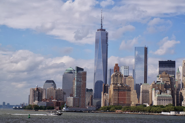 New York, freedom tower, skyline, staten island ferry, downtown, view,