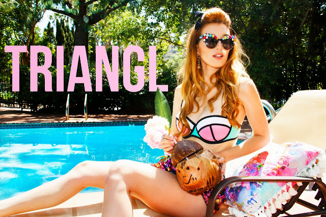 Triangl Swimwear Campaign 2015 featuring Dani Thorne