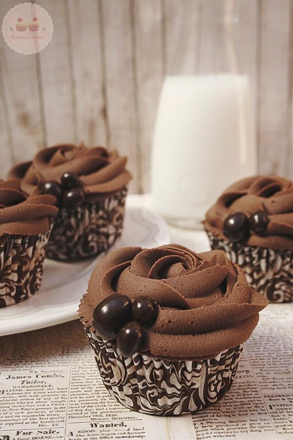 cupcakes de vainilla sin lactosa