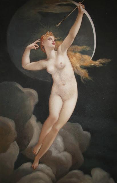 selene,art history, mythological