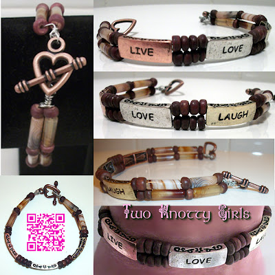Handmade Live, Love, Laugh Bracelet