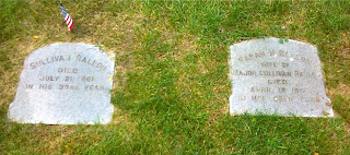 Gravestones of Sullivan Ballou and Sarah Ballou Swan Point Cemetery