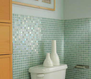 Home Interior Design And Interior Nuance: Bathroom glass tile designs