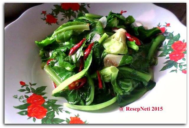 resep tumis sayuran baby kol di dapur kusNeti 2015