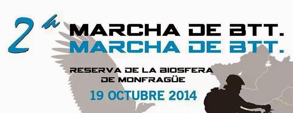 2ª MARCHA DE BTT.RESERVA DE LA BIOSFERA DE MONFRAGUE.19 DE OCTUBRE