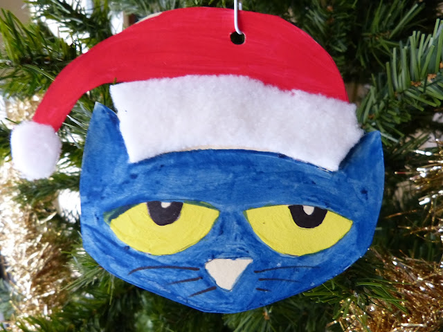 Paula 39 s preschool and kindergarten pete the cat saves for Cat christmas ornaments craft
