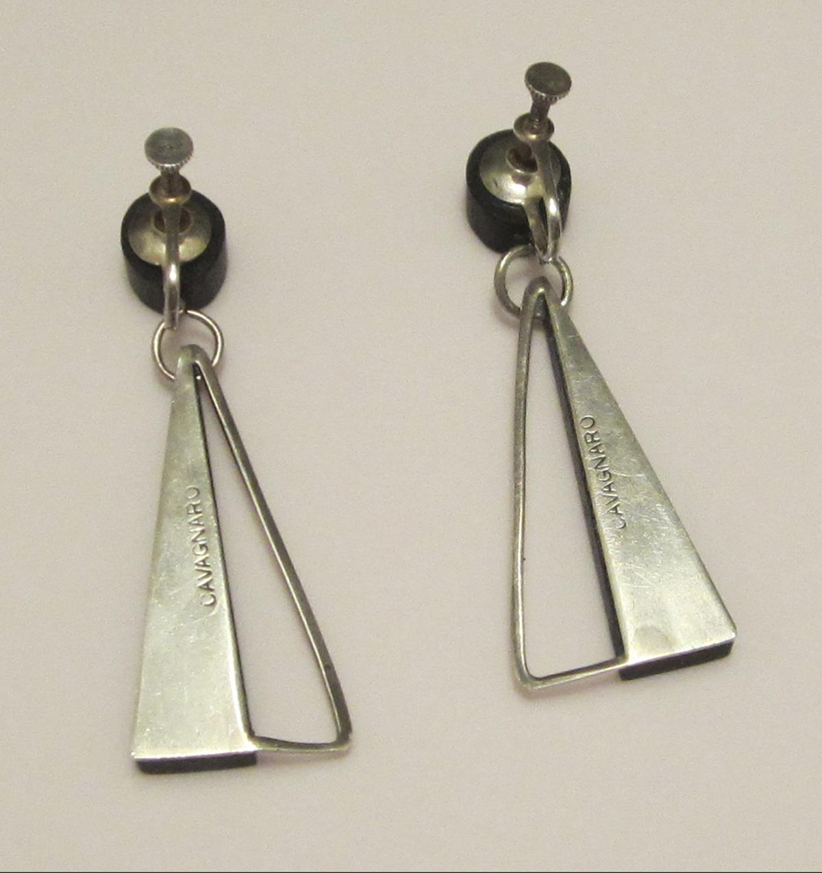 moderne design milton cavagnaro mid century jewelry designer
