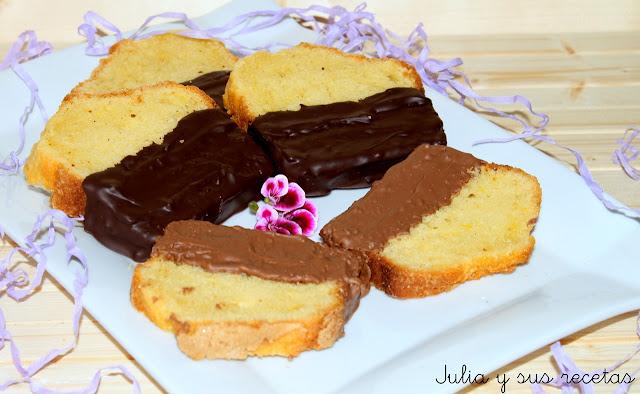 Bizcocho De Yogurt De Limón Con Chocolate